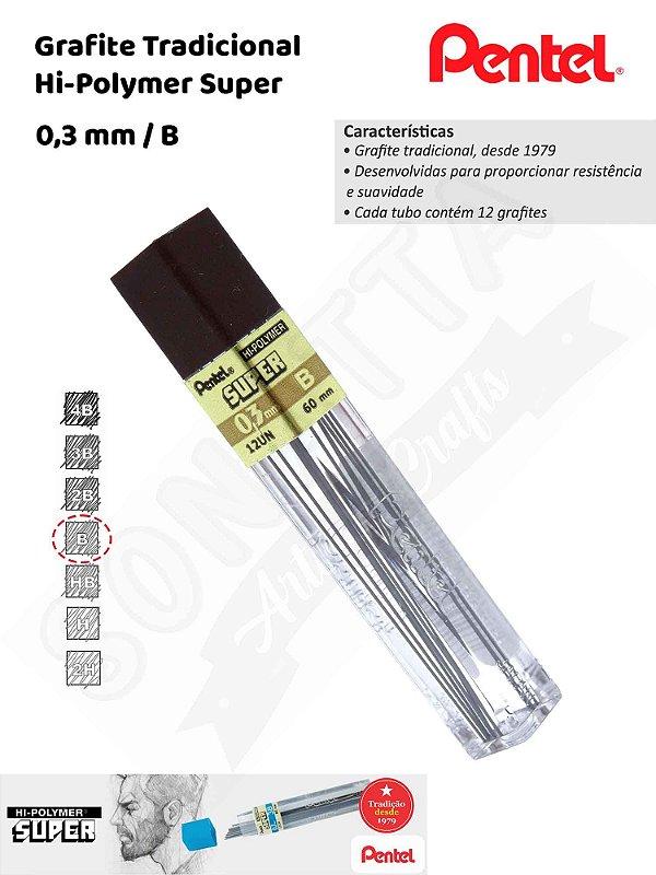 Grafite/Mina PENTEL Hi-Polymer 0,3mm B – 300B