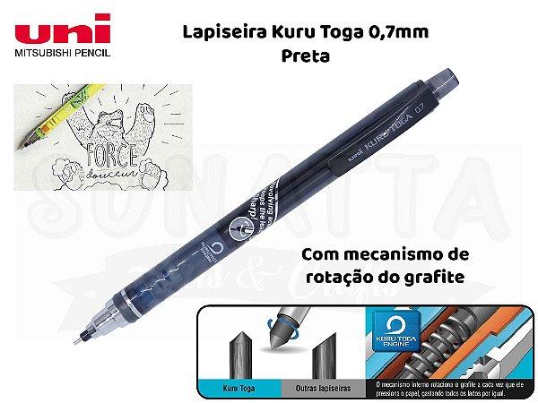 Lapiseira Uni-ball Kuru Toga 0,7mm Preta  - M7-450T