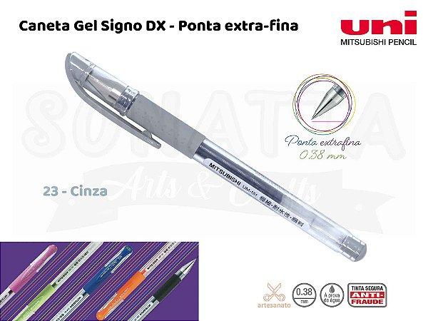 Caneta Uni-ball Signo DX 0,38mm UM-151 - Cinza 23