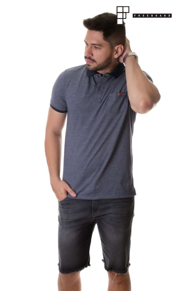 Camisa Polo Denim