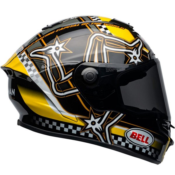 Capacete Bell Star DLX Mips Isle of Man Black Yellow