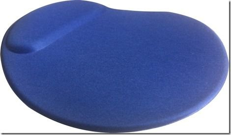 Mouse Pad Ergonômico Gota Tecido Azul
