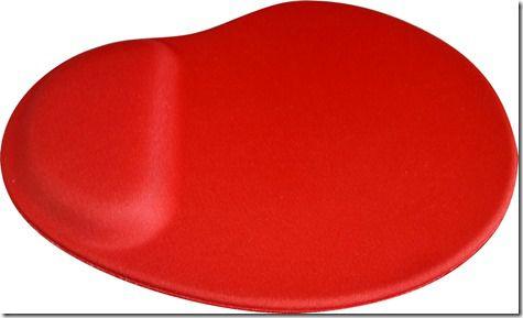 Mouse Pad Ergonômico Gota Tecido Vermelho