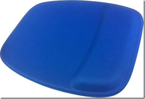 Mouse Pad Ergonômico Retangular Tecido Azul