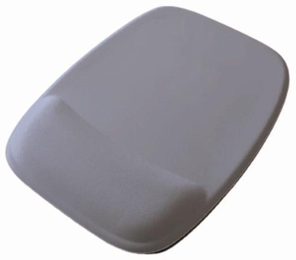 Mouse Pad Ergonômico Retangular Tecido Branco