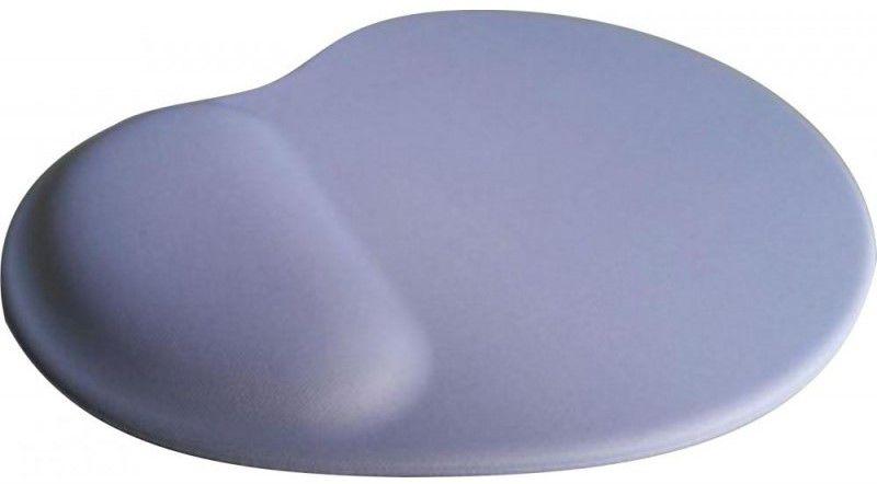 Mouse Pad Ergonômico Gota Tecido Branco Base Espuma