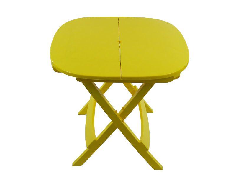 Mesa Plástica Dobrável Prátika  - Amarela - EcoMobili