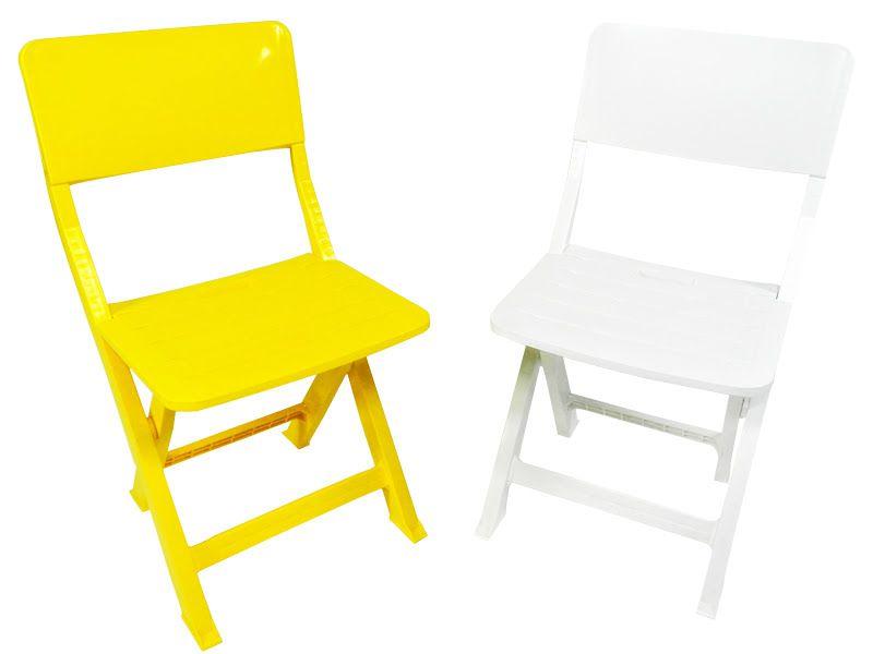 Cadeira Plástica Dobrável Prátika - Branca - EcoMobili