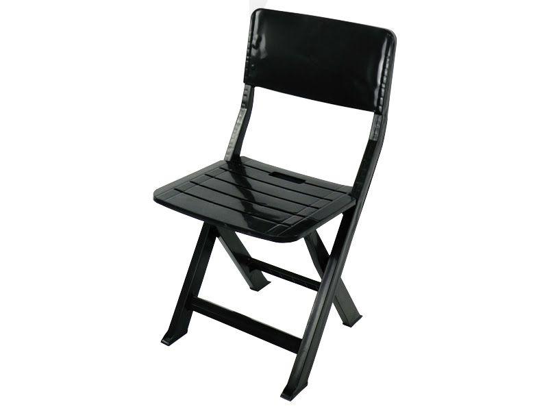 Cadeira Plástica Dobrável Prátika - Preta - EcoMobili