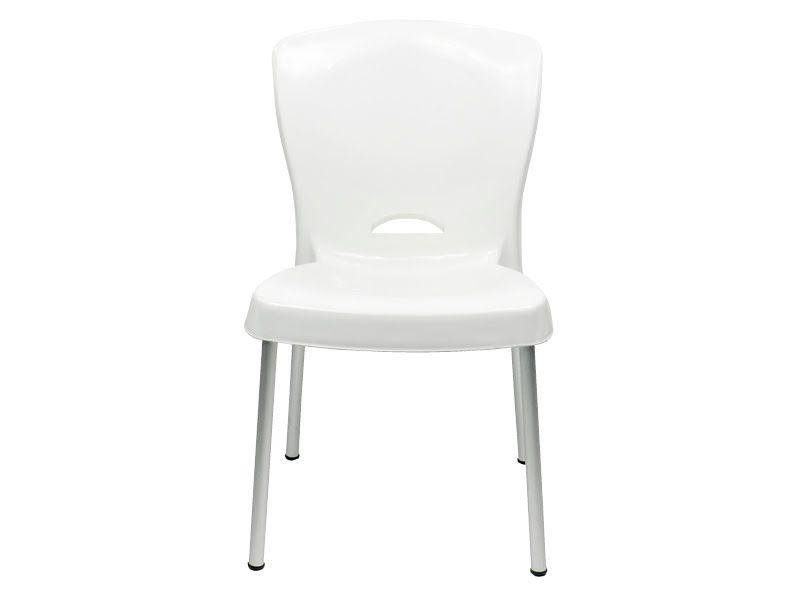 Cadeira Bistrô Lola com Pés em Alumínio - Branca - EcoMobili