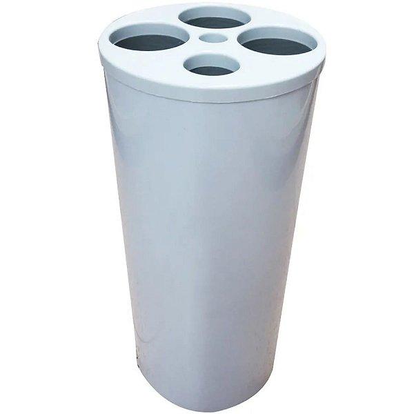 Lixeira para Copos com 5 Tubos - Copos de água e café - Branca - JSN