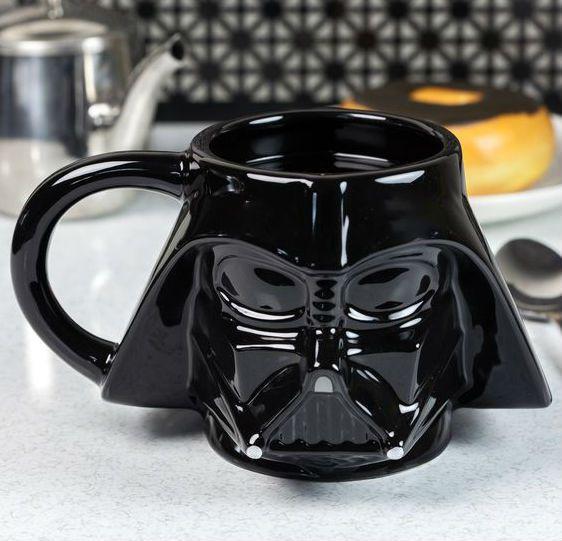 Caneca Darth Vader Star Wars Porcelana Formato 3d