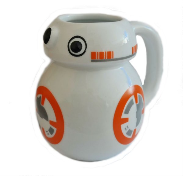 Caneca BB8 Droid Star Wars Porcelana 3D