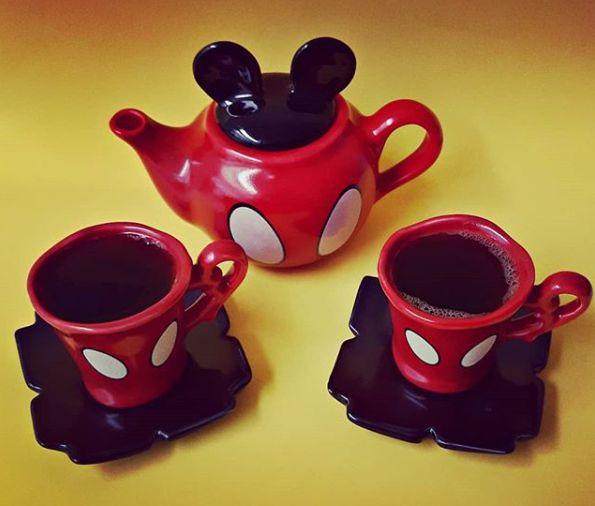 Kit Café Mickey Vermelho