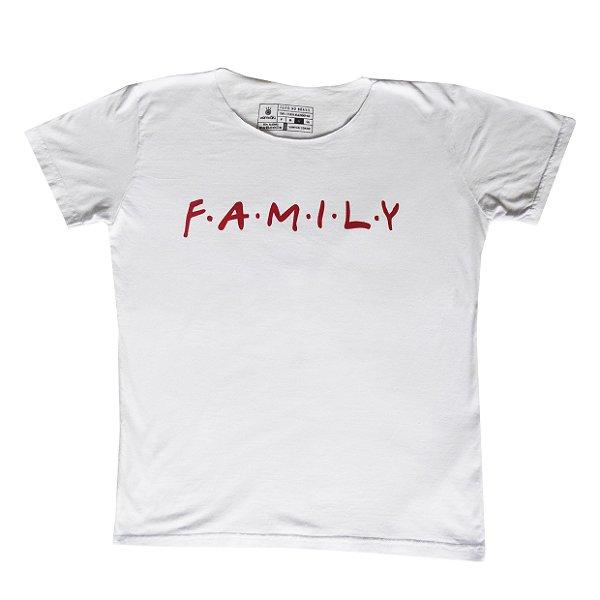 Camiseta Vamvaki Feminina Red Family