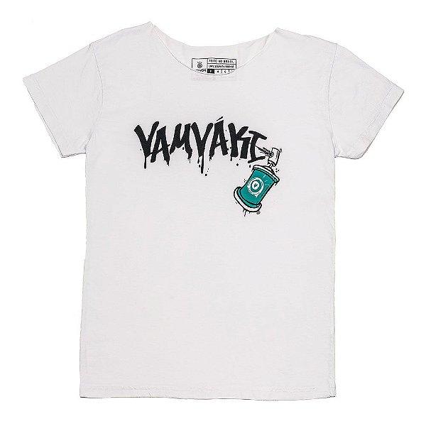 Camiseta Vamvaki Feminina Grafite