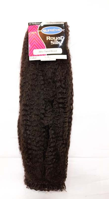 Marley Afro Twist Crochet Braids ( cor 4 - castanho ) 110G – Cherey