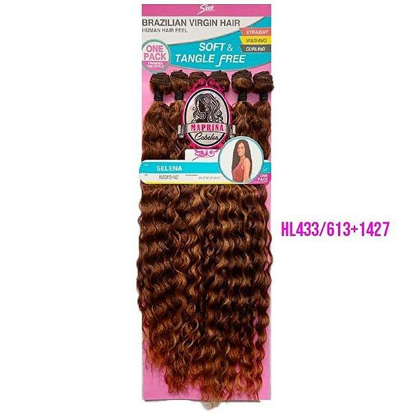 CABELO SELENA Brazilian Virgin Hair 260g (COR  HL433/613+1427- CASTANHO CLARO + LOIRO CLARO  +LOIRO MEL)