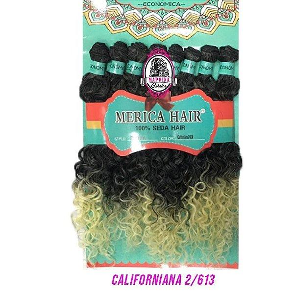 Cabelo Flora - Mérica Hair 280g ( Cor Californiana2/613 - Mesclado Castanho escuro+ Loiro Claro nas pontas)