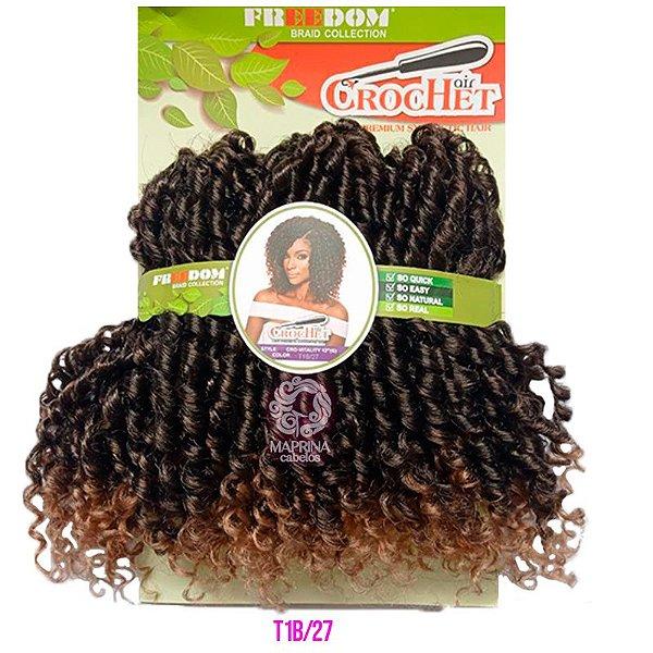 Cabelo Cro Vitality 240g - Freedom Crochet  ( COR T1B/27 - Preto com as pontas loiro mel )