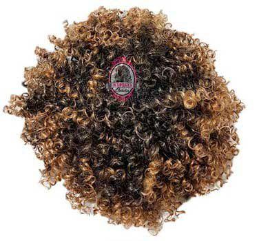 Afro Puff Orgânico 120g Fashion Line ( cor MT1B/27 PRETO COM LOIRO MEL  )
