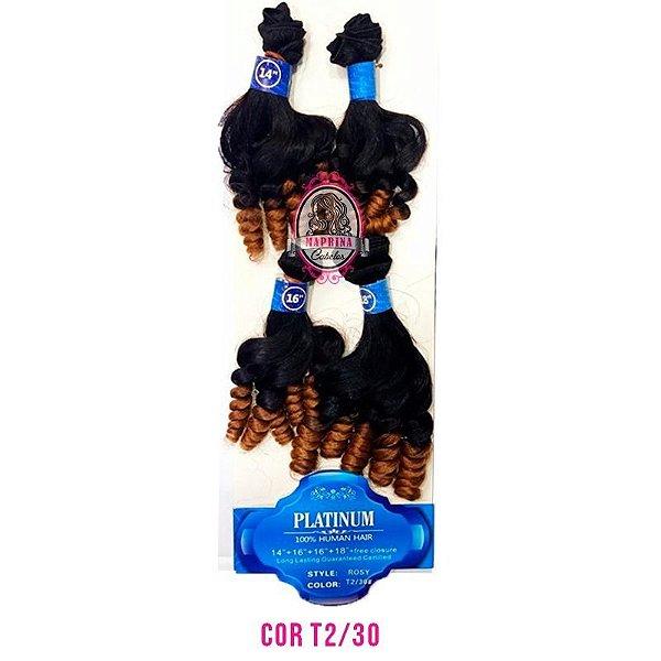 Cabelo Rosy Platinum - SUPER STAR ( COR T2/30 CASTANHO  ESCURO COM COBRE )