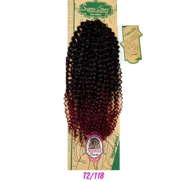 Cabelo Miracel Crochet Braid - Super Star 150G (COR T2/118 - Castanho - vermelho cereja )