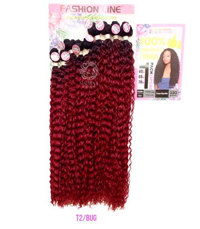 Cabelo Formosa 320g - Fashion Line ( cor T2/BUG - Preto + Vermelho Cereja)