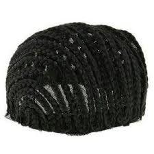 Touca Trançada para confeccionar Peruca em Crochet Braid - Cherey (cor Preto - Trançada)