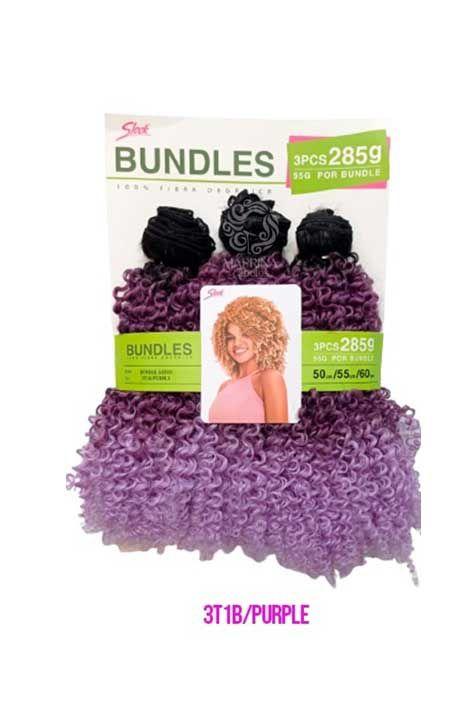 Cabelo Bundle Goivo Orgânico ( Cor 3T1B/Purple - Mesclado Preto + Lilás + Purple)