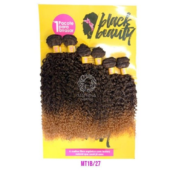 Cabelo Cachos Perfeitos OA  - Black Beauty ( Cor MT1B/27 - Mesclado preto + loiro mel )