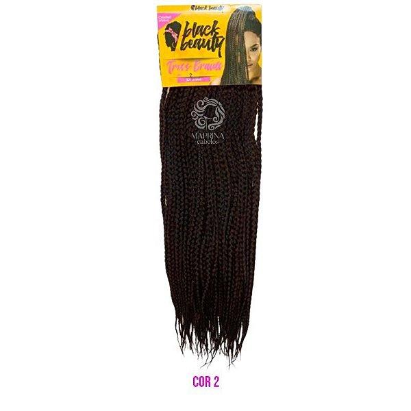 Box Tress Braids - Black Beauty ( cor 2 - Castanho escuro)