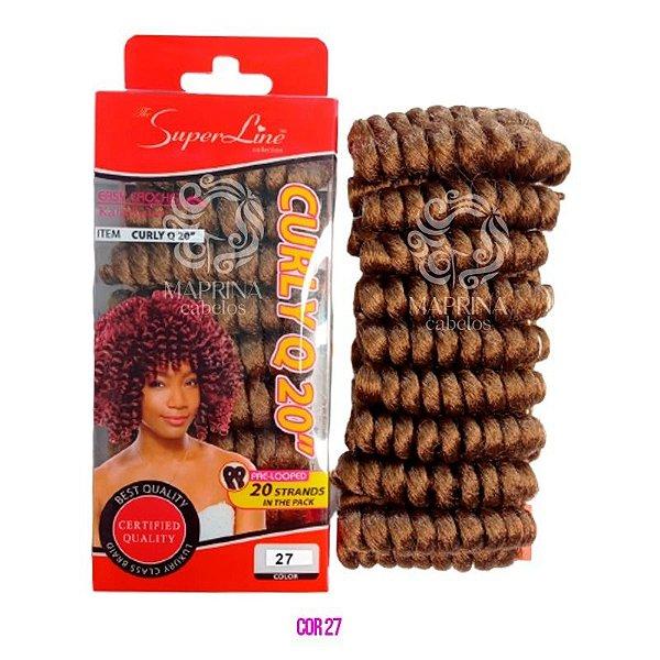 Cabelo Curly Q20 - Super Line ( cor 27 - Loiro Mel)
