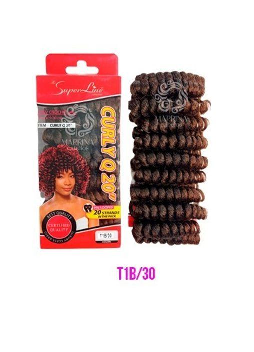Cabelo Curly Q20 - Super Line ( cor 1B/30 - Preto + cobreado)