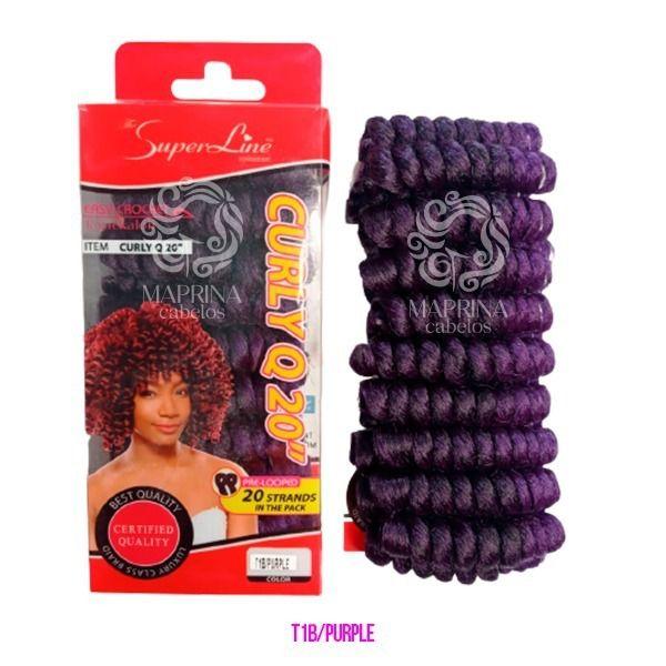 Cabelo Curly Q20 - Super Line ( cor 1B/PURPLE - Preto + Roxo)