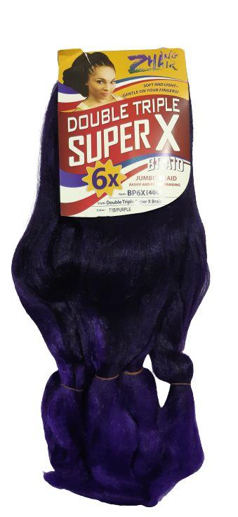 Jumbão Double Triple 400g - Zhang Hair ( Cor T1B/Purple - Preto + Roxo)