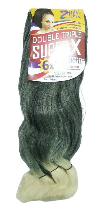 Jumbão Double Triple 400g - Zhang Hair ( Cor T1B/613 - Preto + loiro claro)