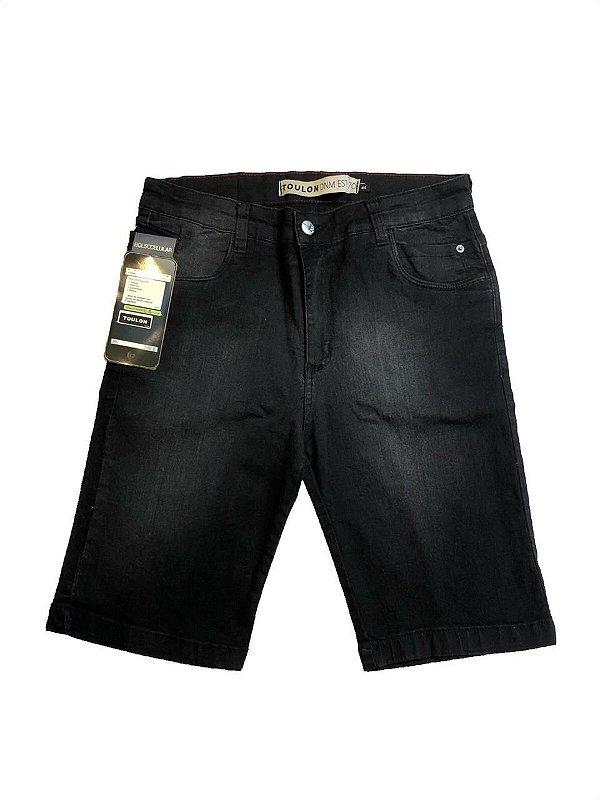 Bermuda Jeans com Bolso Celular