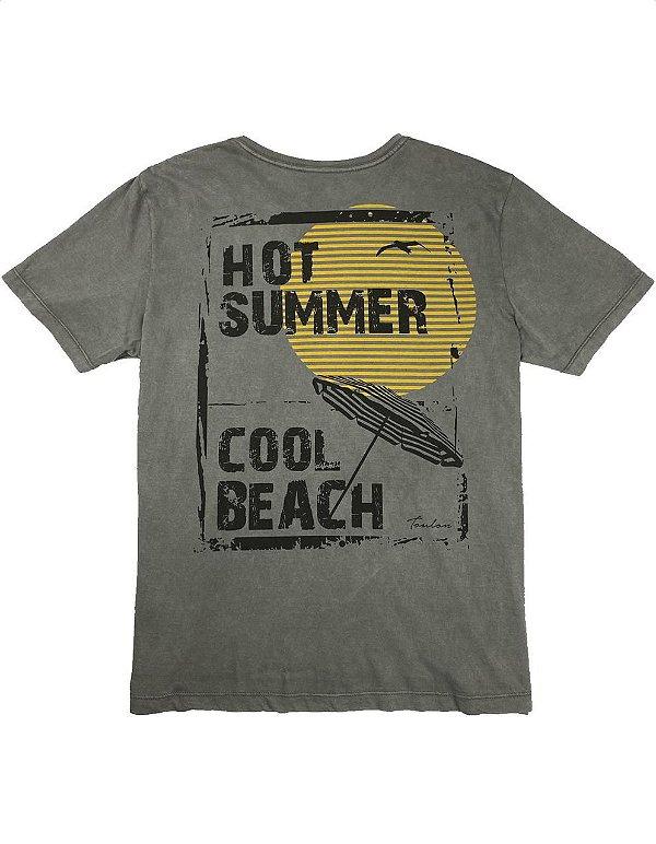Camiseta Estonada Estampa Hot Summer