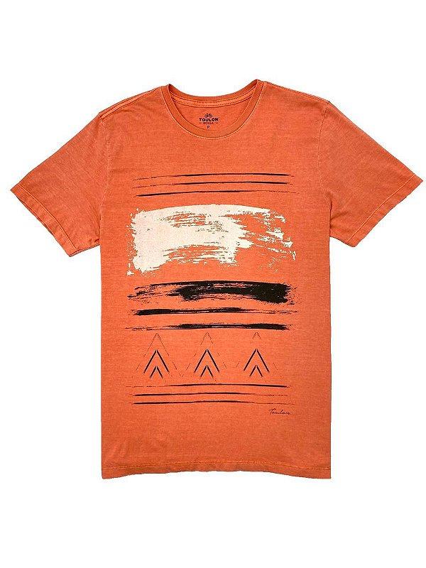 Camiseta Estonada Estampa Étnico