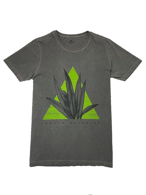 Camiseta Estonada Estampa Jardim