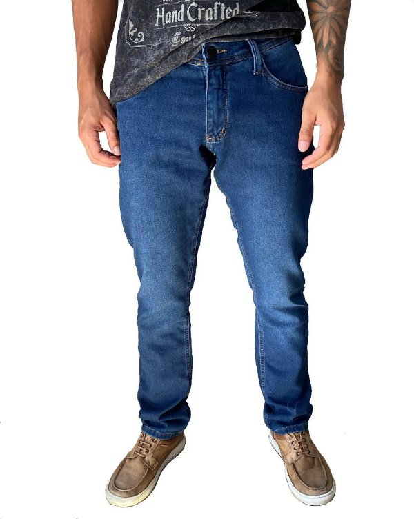 Calça Slim Jeans Moletom