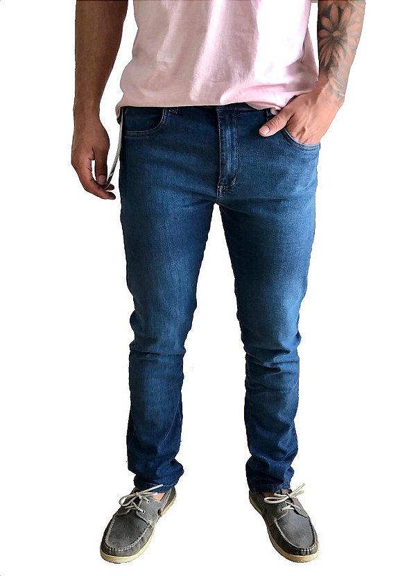 Calça Skynny Jeans com Bolso Celular
