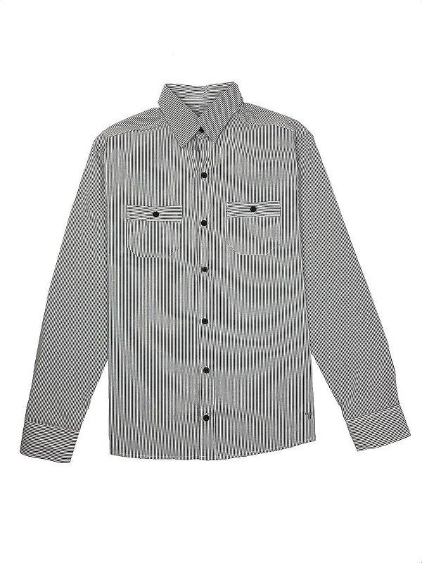 Camisa Elaborada Listras Finas ML
