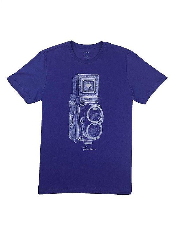 Camiseta Estampa Maquina Fotográfica