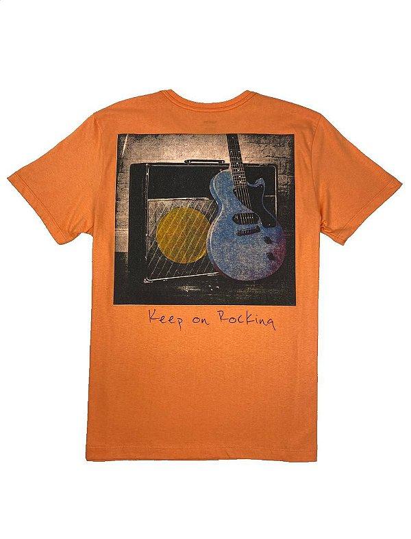 Camiseta stampa Guitarra nas Costas