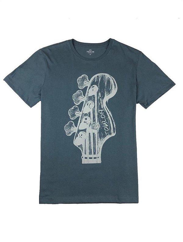 Camiseta  Estampa Contra Baixo