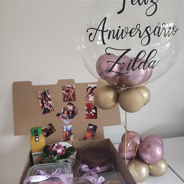 Festa na Caixa Individual com Balão Bubble com Gás Hélio