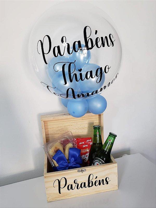 Kit happy hour com balão bubble