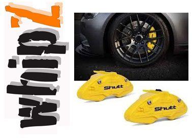 Capa Pinça de Freio Shutt Tuning Amarela Universal ABS Roda Aro 14 ou Superior Par Similar Brembo